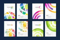 Vector globe brochure template set. Abstract arrow Royalty Free Stock Images