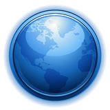 Vector globe icon Royalty Free Stock Photos