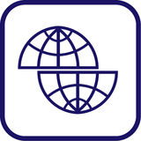 Vector globe icon. Simply change Stock Photo