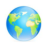 Vector globe icon color world map Stock Photo