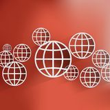 Vector globe icon Stock Images