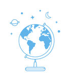 Vector globe icon. Line illustration Royalty Free Stock Photos