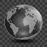 Vector globe isolated on transparent background Stock Photo
