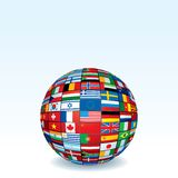 Vector Globe Made from World Flags Royalty Free Stock Photos