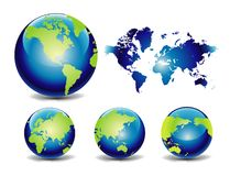 Vector globe and map Stock Images