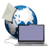 Vector Globe with Notebook Stock Image