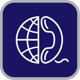 Vector globe and phone icon Stock Photography