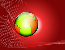 Vector globe red abstract background Royalty Free Stock Photo