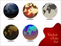 Vector globe set Royalty Free Stock Photo