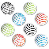 Vector globe stickers Stock Image