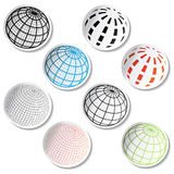 vector Globe stickers Royalty Free Stock Photos
