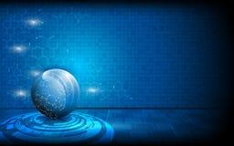 Vector globe tech innovation concept background. Eps 10 vector illustration