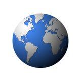 Vector globe  on white. Royalty Free Stock Photos