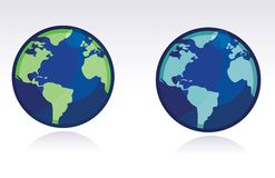 Vector Globe - WORLD MAP Stock Photos
