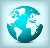 vector globe world map icon Stock Photos