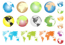 Vector Globes Royalty Free Stock Image