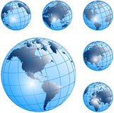 Vector globes Stock Photo