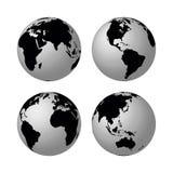 Vector globes vector illustration