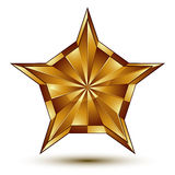 Vector glorious glossy design element, luxury 3d golden star, co Royalty Free Stock Photography
