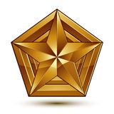 Vector glorious glossy design element, luxury 3d golden star, co Stock Image