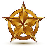 Vector glorious glossy design element, luxury 3d golden star, co Stock Photo