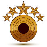 Vector glorious glossy design element with luxury 3d golden stars Royalty Free Stock Images