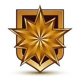 Vector glorious glossy design element with luxury 3d polygonal g Royalty Free Stock Image