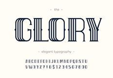 Vector glory art deco font. royalty free illustration
