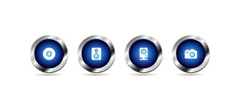 Vector glossy blue web buttons vector illustration