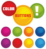 Vector glossy buttons Royalty Free Stock Photo