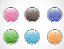 Vector glossy buttons Royalty Free Stock Photography