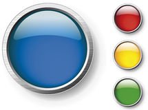 Vector glossy buttons Stock Images