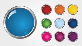 Vector glossy buttons. Colorful beautiful vector glossy buttons Vector Illustration