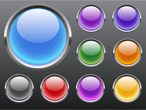 Vector glossy buttons clear Stock Image