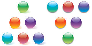 Vector glossy buttons collection vol two Royalty Free Stock Images