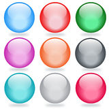 Vector glossy buttons Stock Photo