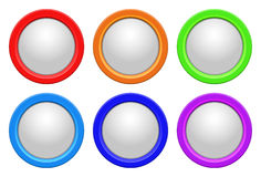 Vector glossy buttons Stock Photos
