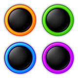 Vector glossy buttons Stock Photography