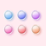 Vector glossy buttons Stock Image