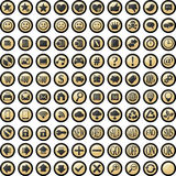 Vector glossy buttons set Royalty Free Stock Image