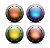 Vector glossy buttons on a white background Stock Images