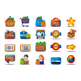 Vector glossy ecommerce icon set Royalty Free Stock Photography