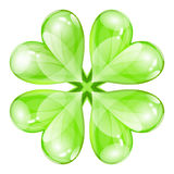 Vector glossy four-leaf clover Royalty Free Stock Images