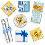 Vector Glossy Gift Boxes Set 2 royalty free illustration