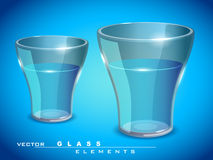 Vector glossy glass of water Royalty Free Stock Image