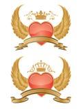 Vector glossy hearts. Vector glossy hearts isolated on white background Royalty Free Stock Image