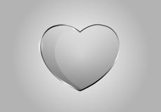 Vector glossy hearts. Vector beautiful glossy hearts. Looks like realistic glass. Icon and background. Clear and transparent Royalty Free Stock Images