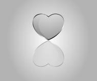 Vector glossy hearts Stock Photos