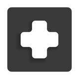 Vector glossy medical web icon design element. Royalty Free Stock Images