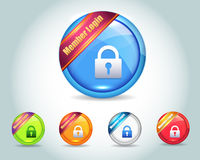Vector Glossy Member Login Icon Button Royalty Free Stock Image